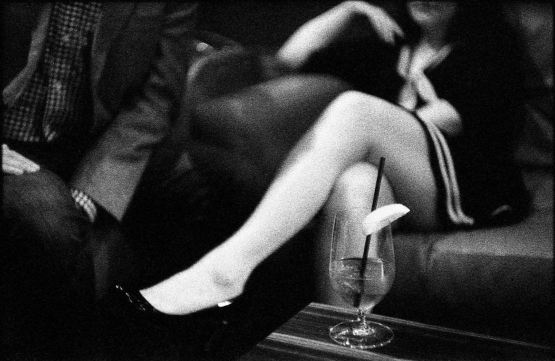 legs volt thigh b&w moment drink bar restaurant  Black and White Film  black and white film photography