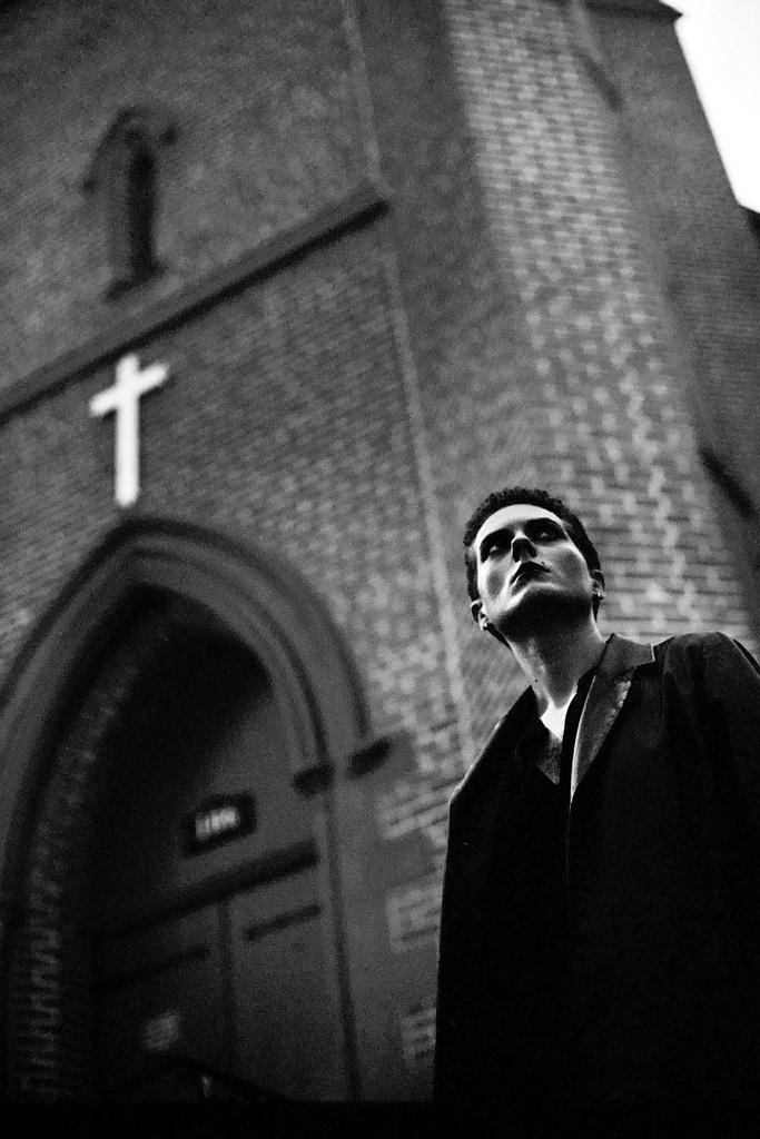 Black and White Film  black and white film photography goth gothic religion cross church