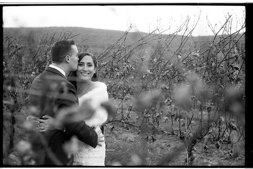 black and white film wedding photography vineyard big cork wine smile happy bride groom marriage maryland photographer johnny martyr nideen morrisson azat realitor