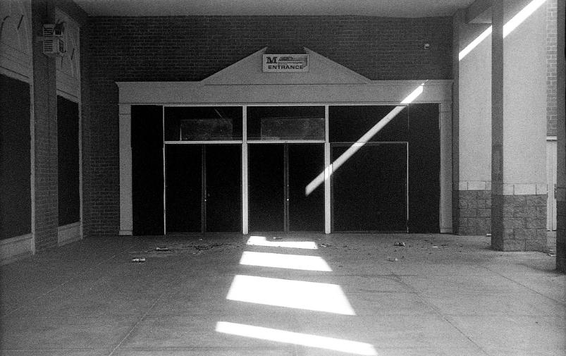 Abandoned Mall Route 40 Frederick Maryland 1930 Leica Summar Film 35mm  black and white film photography Johnny Martyr