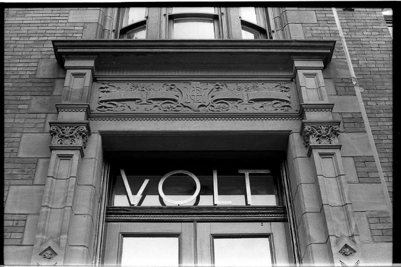 Volt Restaurant Frederick Maryland  black and white film photography Johnny Martyr