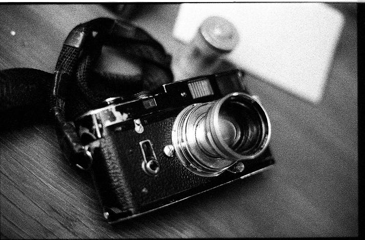 James Mignogna's Leica M4 and Summitar brassed black chrome vintage  black and white film photography