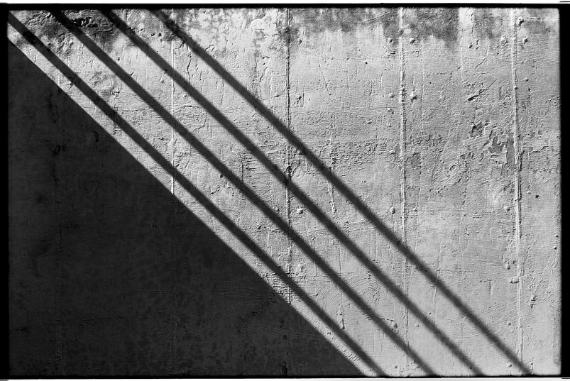 Leica M6 Summarit Concrete Wall Shadows Middletown Maryland black and white film photography